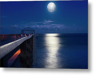 Super Moon At Juno Metal Print