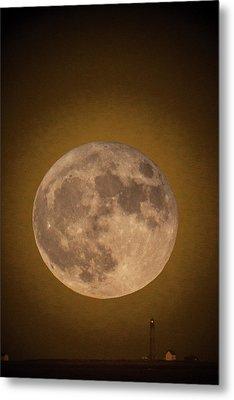 Super Moon Over Petit Manan Metal Print