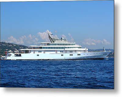 Metal Print featuring the photograph Super Yacht by Richard Patmore