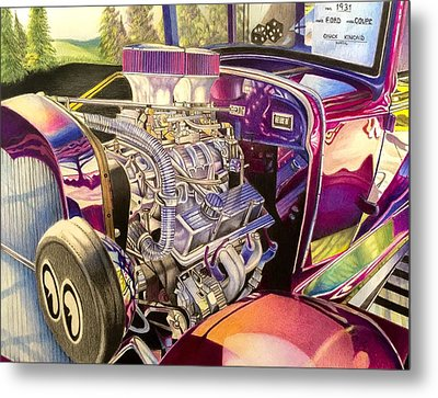 Supercharged Antique 1931 Ford Coupe  Metal Print