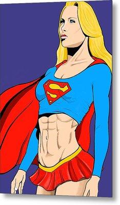 Supergirl Metal Print by Brian Broadway