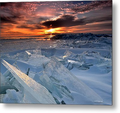 Superior Glass Metal Print by Gregory Israelson