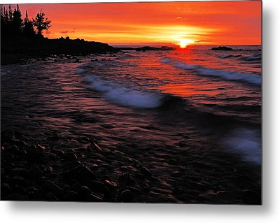 Superior Sunrise 2 Metal Print by Larry Ricker