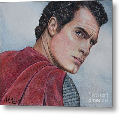 Superman Metal Print by Christine Jepsen