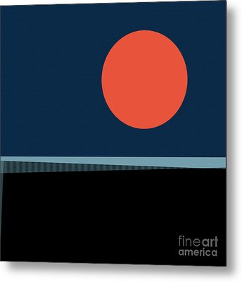 Metal Print featuring the digital art Supermoon Over The Sea by Klara Acel
