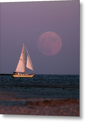 Supermoon Two Metal Print