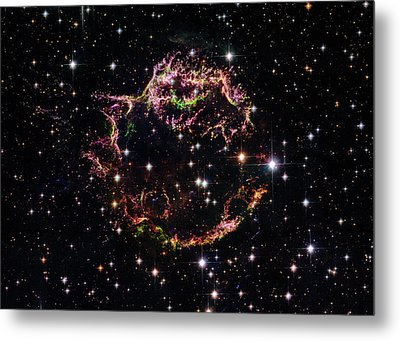 Metal Print featuring the photograph Supernova Remnant Cassiopeia A by Marco Oliveira