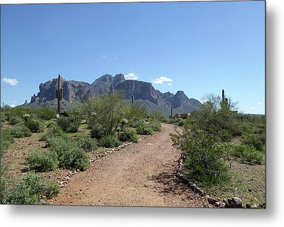 Metal Print featuring the photograph Superstition Trails by Gordon Beck