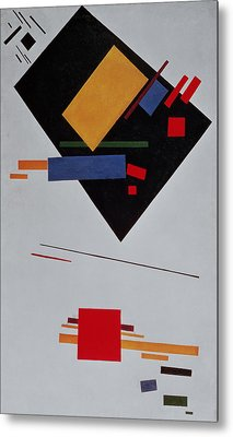 Suprematist Composition Metal Print by  Kazimir Malevich