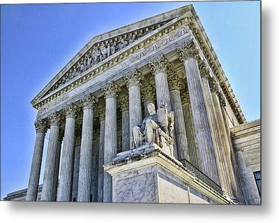Supreme Court Metal Print by Allen Beatty