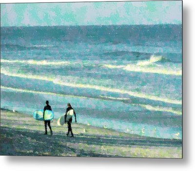 Surf Brothers Metal Print by Cheryl Waugh Whitney