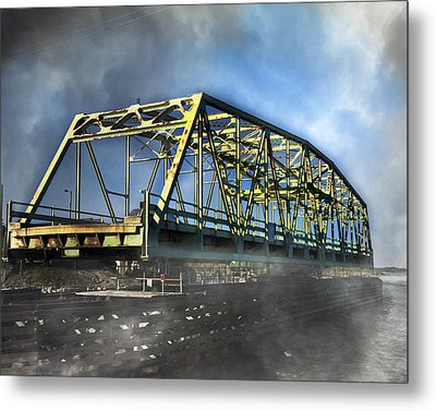 Surf City Nc Swing Bridge Metal Print by Betsy Knapp