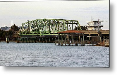 Surf City Swing Bridge Metal Print