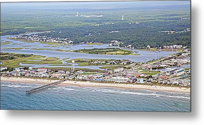 Surf City Topsail Island Sw Metal Print by Betsy Knapp