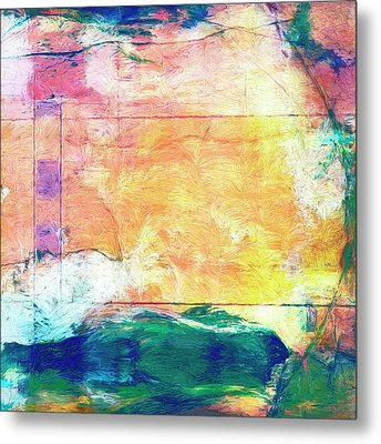 Metal Print featuring the painting Surface Vector by Dominic Piperata