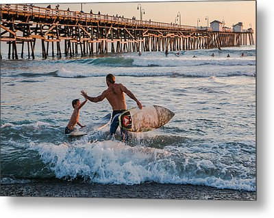 Surfboard Inspirational Metal Print by Scott Campbell