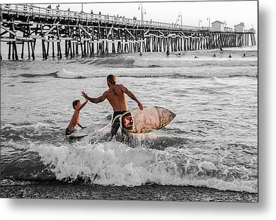 Surfboard Inspirational - Selective Color Metal Print by Scott Campbell