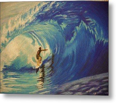 Surfer Metal Print by Agnes V