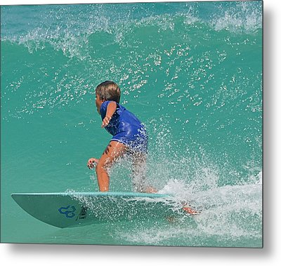 Surfer Boy Metal Print by  Newwwman