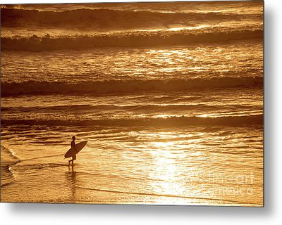 Metal Print featuring the photograph Surfer by Delphimages Photo Creations