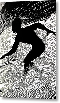 Surfer Metal Print by Hawaiian Legacy Archive - Printscapes