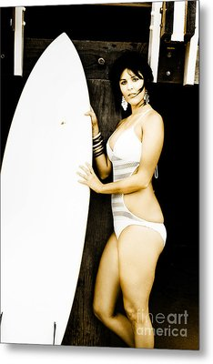 Surfer Lifestyle Metal Print by Jorgo Photography - Wall Art Gallery