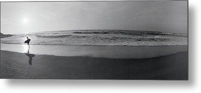 Surfer, San Diego, California, Usa Metal Print by Panoramic Images