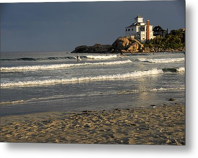Surfers At Good Harbor Metal Print