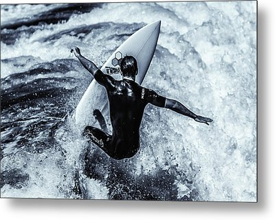 Surfers Cross Metal Print by Thomas Gartner