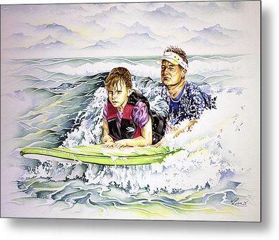Surfers Healing Metal Print by William Love