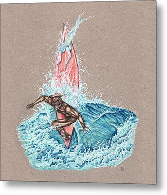 Surfer's Lover Metal Print by Karen Musick