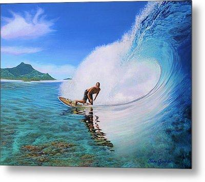 Surfing Dan Metal Print