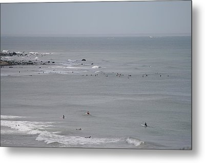 Surfing Ditch Plains Montauk Metal Print
