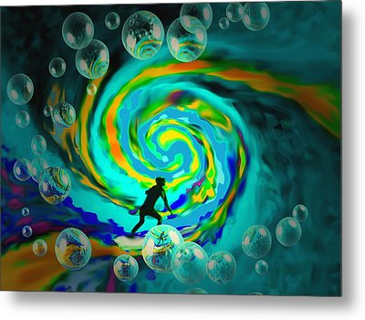 Surfing For The Gold II Metal Print by Joyce Dickens