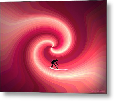 Surfing In The Sunset Two Metal Print by Joyce Dickens