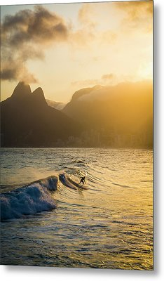 Surfing Magic Metal Print by Lana Enderle