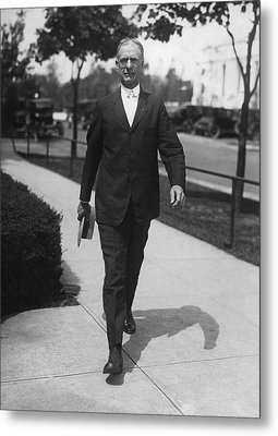 Surgeon General Walks To Work Metal Print by Underwood Archives