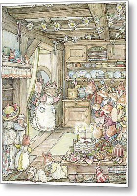Surprise At Mayblossom Cottage Metal Print by Brambly Hedge