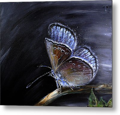 Surreal Common Blue Metal Print by Tanya Byrd