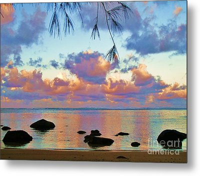 Surreal Sunset Metal Print by Michele Penner