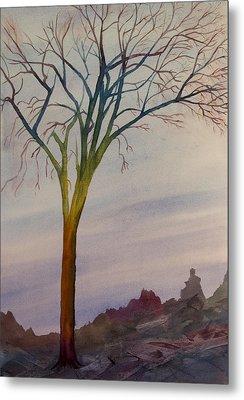 Surreal Tree No. 2 Metal Print by Debbie Homewood