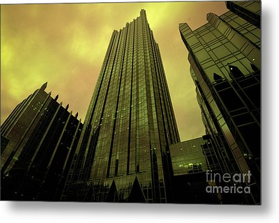 Surreal View Of Ppg Plaza Pittsburgh Metal Print by Amy Cicconi