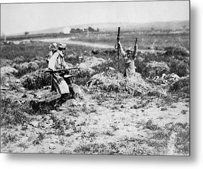 Surrender At Bayonet Point Metal Print by Underwood Archives