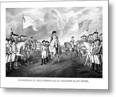 Surrender Of Lord Cornwallis At Yorktown Metal Print by War Is Hell Store