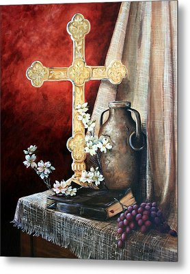 Survey The Wonderous Cross Metal Print by Cynara Shelton
