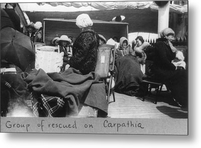 Survivors Of The Titanic Disaster Metal Print by Everett