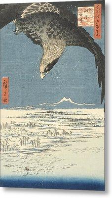 Susaki And The Jumantsubo Plain Near Fukagawa Metal Print by Hiroshige