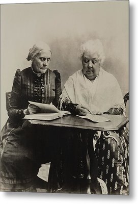 Susan B. Anthony And Elizabeth Cady Metal Print by Everett