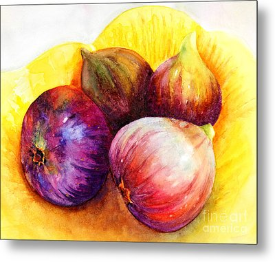 Metal Print featuring the painting Susan's Figs by Bonnie Rinier