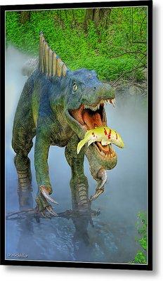 Sushomimus Dinosaur Metal Print by LeeAnn McLaneGoetz McLaneGoetzStudioLLCcom